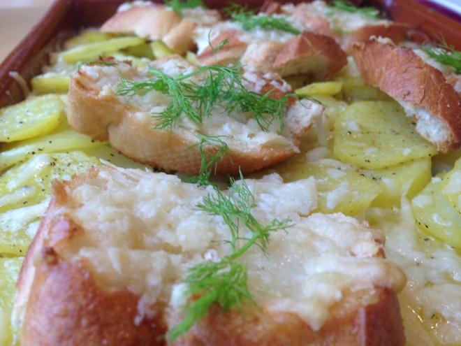 Ovenschotel met zalmforelfilet, venkel en aardappel van Foodie Fredi