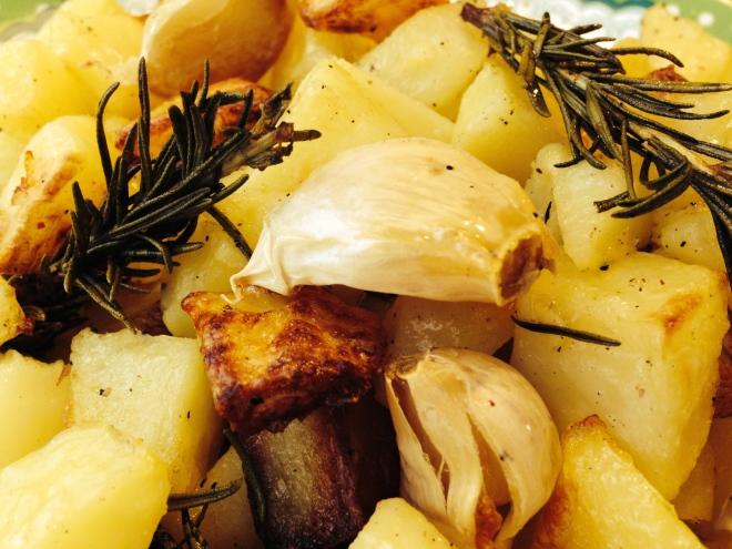 Aardappelen met rozemarijn en knoflook