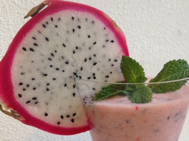 Drakenfruit smoothie van Foodie Fredi