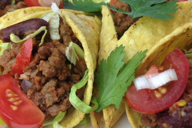Mini taco's met gehakt
