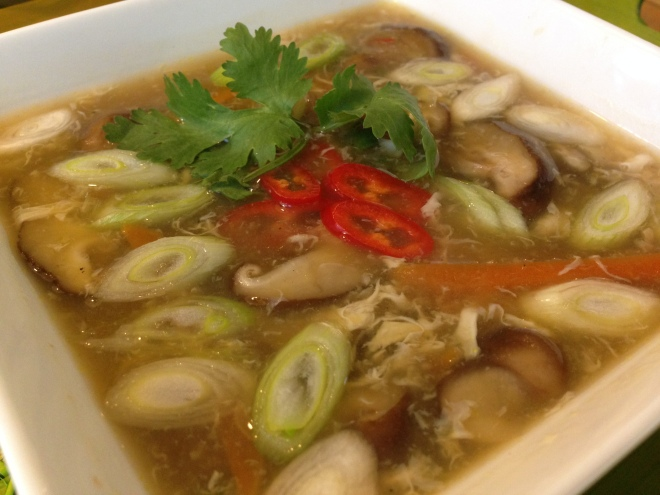 Chinese Hot-and-Sour soep