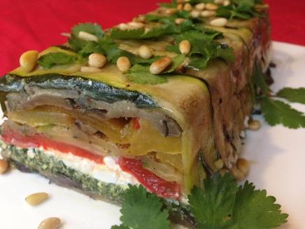 Terrine van gegrilde groenten (kerstrecept)
