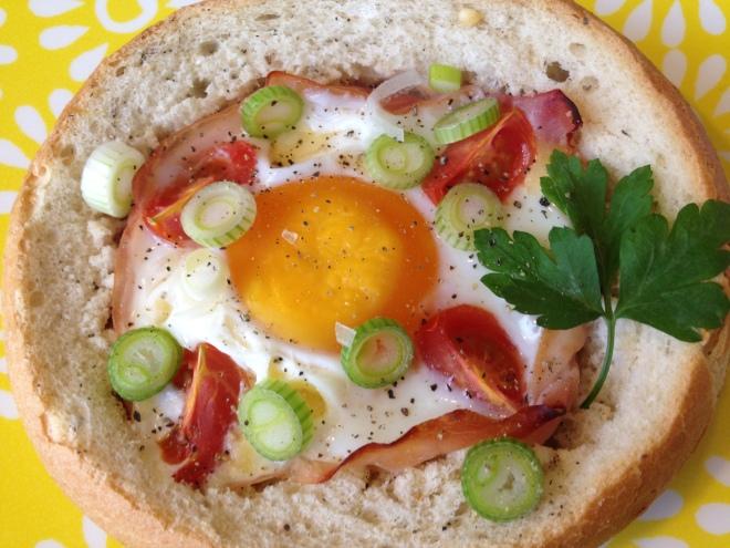 Broodje ei uit de oven